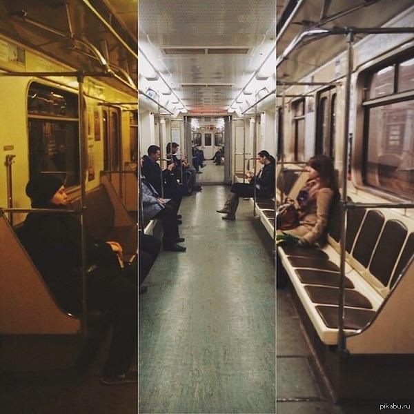 Освещение в различных вагонах метро Нашел фотку на телефоне. Решил залить сюда, может кому интересно) фотал на тапок