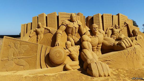 С выставки песочных скульптур в Мельбурне