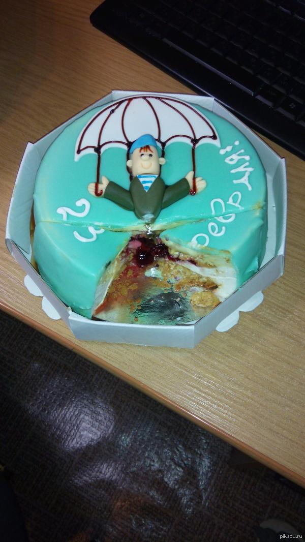 """Купили торт из серии """"Радость маньяка"""" С праздником :)"""