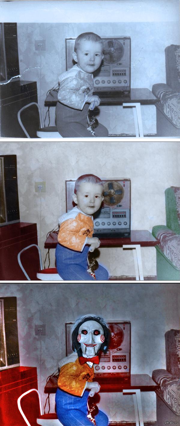 """Реставрация своей фотографии из детства в ответ на пост <a href=""""http://pikabu.ru/story/ocherednaya_restavratsiya_3114819"""">http://pikabu.ru/story/_3114819</a>"""