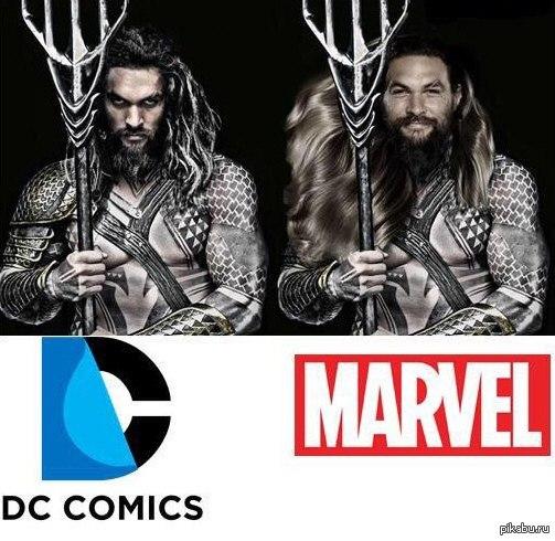 Если бы образ Аквамена создавали в Marvel Чё-то ржу XD