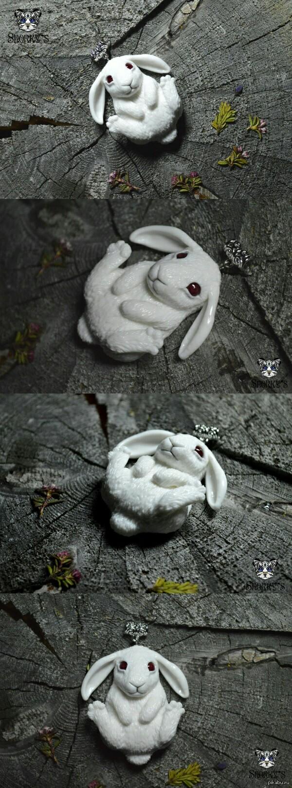Следуй за белым кроликом)) Посмотрели с сыном Алису в стране чудес)   Ручная работа из полимерной глины