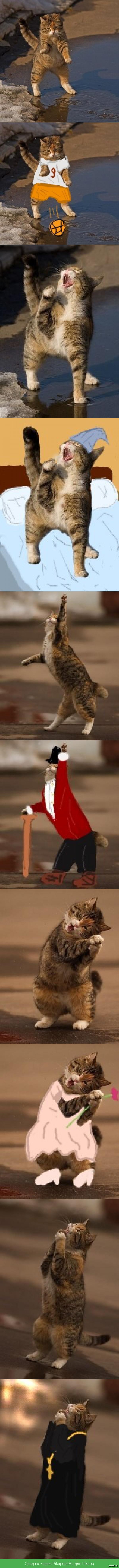 Весенние котейки Пару лет назад взял баянного кота и отпаинтил в телефоне. Картинки много раз скачивались-перекачивались, качество зашакаливает, простите меня великодушно)