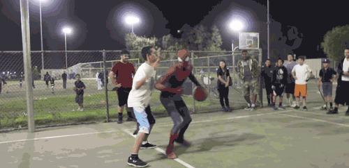 Человек-баскетболист, но паук