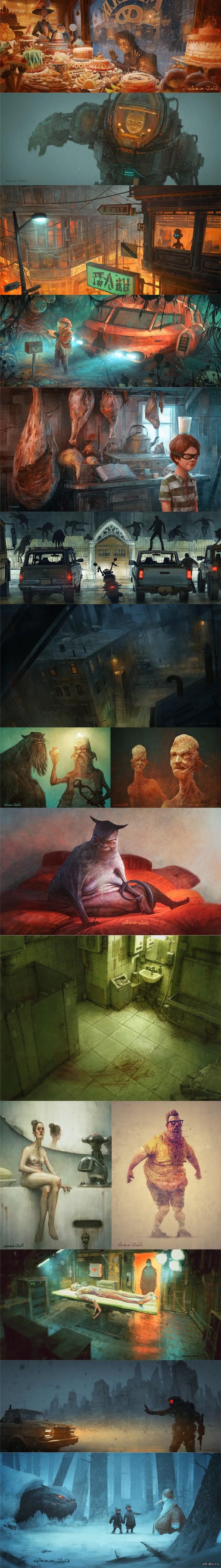 Иллюстрации Николая Локерцена. Nikolai Lockertsen — норвежский художник-иллюстратор, который занимается созданием качественных иллюстраций, создает концепции и разрабатывает эскизы.