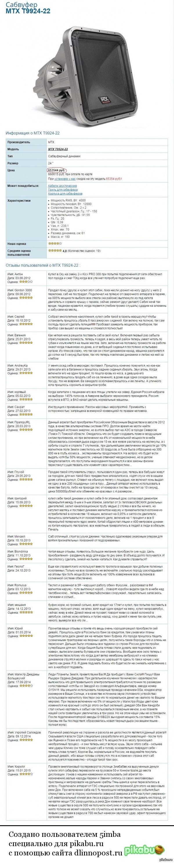 "Отзывы в одном интернет-магазине Прошу прощения, если баян) баянометр молчал. По мотивам поста: <a href=""http://pikabu.ru/story/otzyivyi_v_google_play_zastavlyayut_ulyibnutsya_3185192"">http://pikabu.ru/story/_3185192</a>"