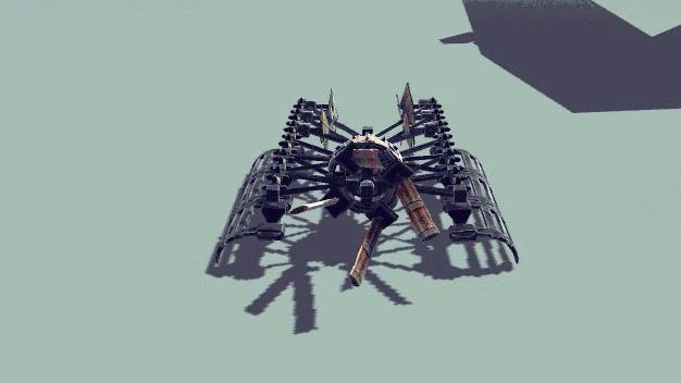 Ульратонкие скоростные аэросани с компактным складывающимся пропеллером
