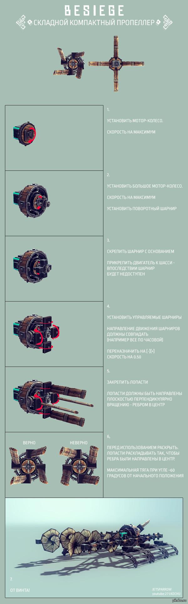 """Складной компактный пропеллер - схема для сборки В действии <a href=""""http://pikabu.ru/story/ulratonkie_skorostnyie_ayerosani_3212958"""">http://pikabu.ru/story/_3212958</a>"""