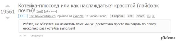 """Это чувство, когда пользовался этой фичей ещё до этого поста, но не успел срубить плюсиков(( <a href=""""http://pikabu.ru/story/koteykaplyusoed_ili_kak_naslazhdatsya_krasotoy_layfkhak_pochti_3219269"""">http://pikabu.ru/story/_3219269</a>"""