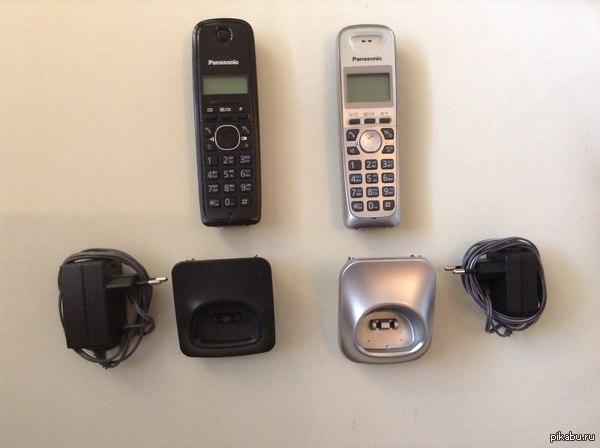 Пикабу Москва, отдам две трубки доп. Panasonic Имеются две доп трубки Panasonic: черная PNLC1023, серебристая  PNLC1010. Отдам за просто так. ВНИМАНИЕ! Без базы(основной трубы той же модели) они бесполезны