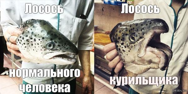 Внутри абсолютно обычная рыба)