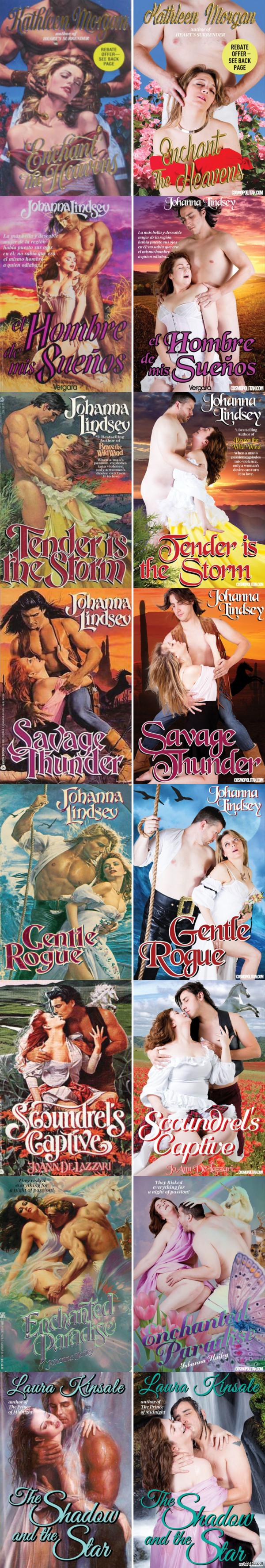 Косплей обложек любовных романов или ожидание vs. реальность  (источник cosmopolitan)