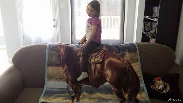 """""""Моя дочь умоляла меня, что бы я купил ей лошадку, вот настал этот день, пришлось не хило экономить и отказывать себе во всем"""""""