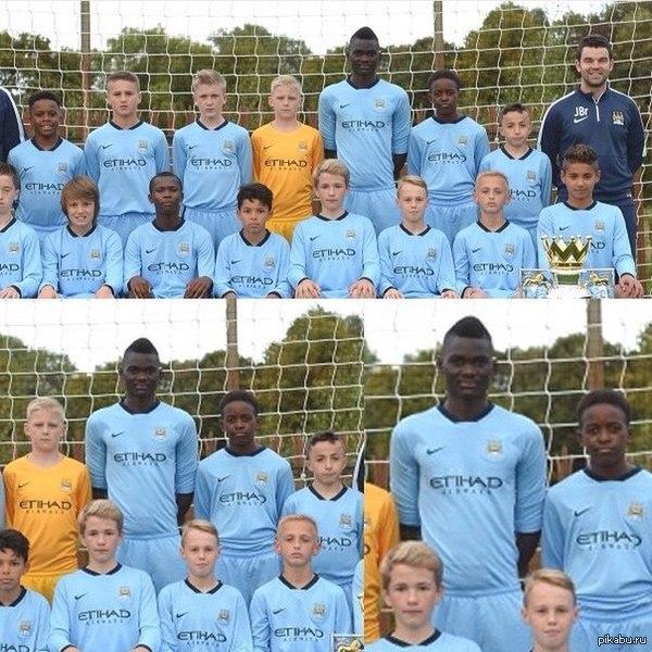 Молодежный состав Манчестер Сити 2002 года рождения))) Этот 13-летний паренек выглядит лет на 30!