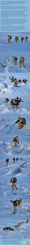 Десантники осваивают прохождение торосов в Арктике
