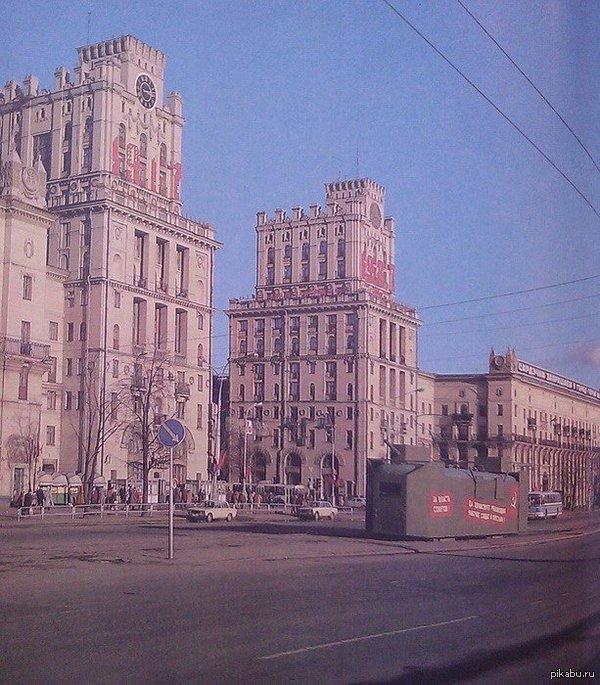 Бронепоезд, Минск, 1987 г. Переоборудованный трамвай разъезжал по Минску в честь 70–летия Октября