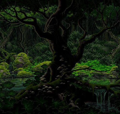 pixel art красивая анимация