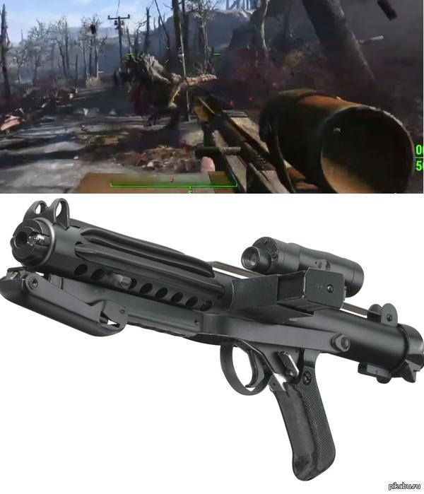 Пасхалка?(много шакалов и кривой скриншот) Оружие в трейлере фаллаута было очень похоже на имперскую винтовку Е-11(с которой в основном штурмовики гоняли)