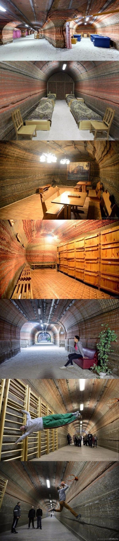 Подземное отделение больницы. Ну круто же! Солигорск к югу от Минска, Беларусь. Отделение располагается на глубине 420 метров между пластами калийной и каменной соли в действующем руднике.