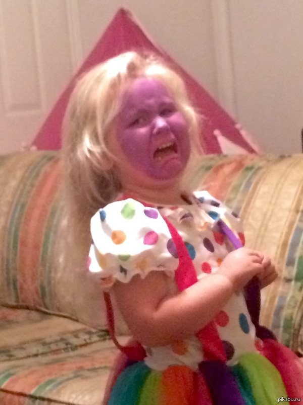 """Страдание """"Моей дочери не очень понравился клоунский гримм, который я сделал"""""""