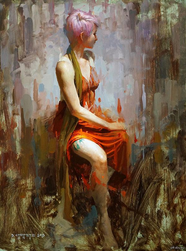 """""""Поворот налево"""" David Cheifetz (Oils, 2013)"""