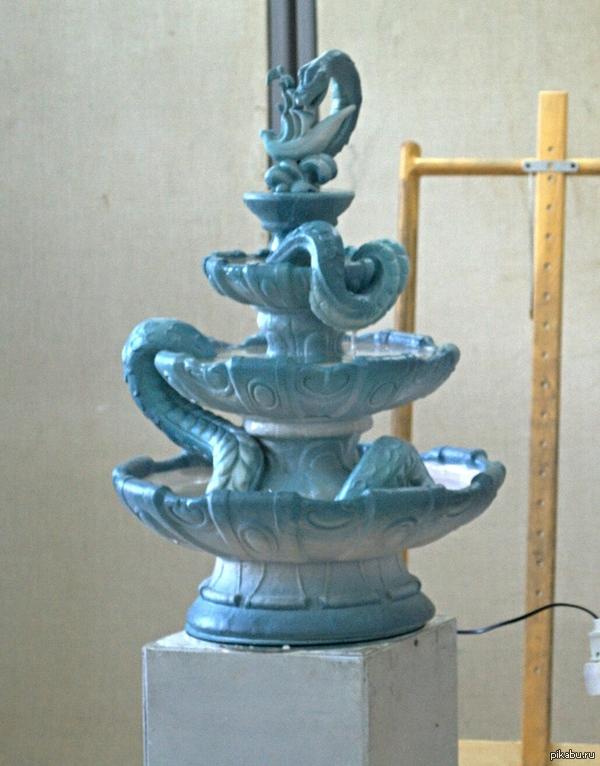 дипломная работа Мой диплом зацените Декоративный фонтан Великий морской змей Отделение керамика
