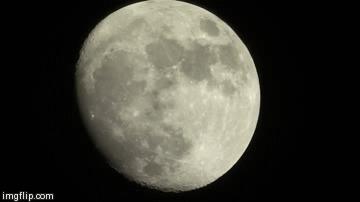 Луна, телескоп и... Самолет! Довольно-таки красиво вышло