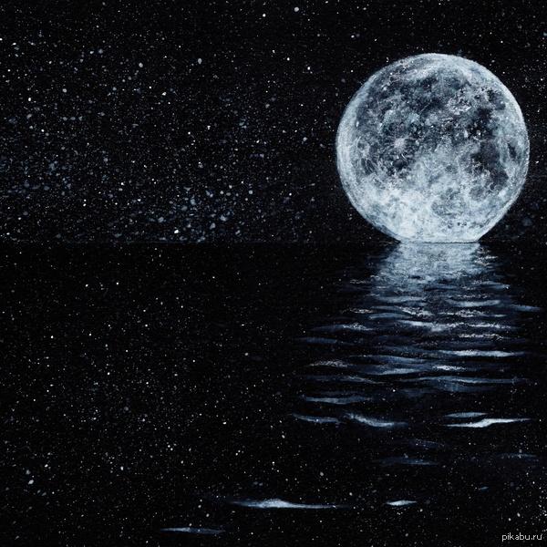 Полетели на луну? Не знаю почему, но мне захотелось нарисовать луну.
