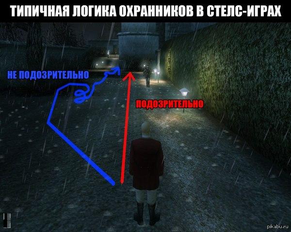 Логика охранников в стелс-играх.