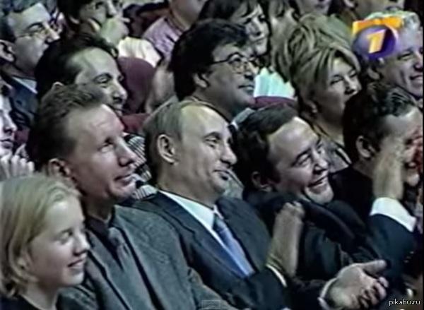Путин & Медведев начало 1999 год, финал высшей лиги КВН