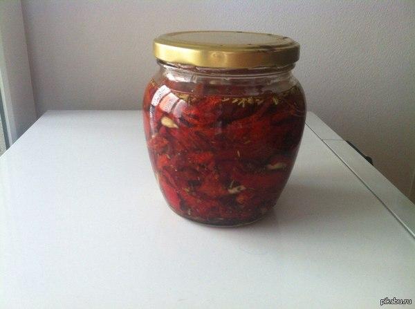 Сделай сам. Вяленые томаты. Вот такую вкуснятину приготовил.