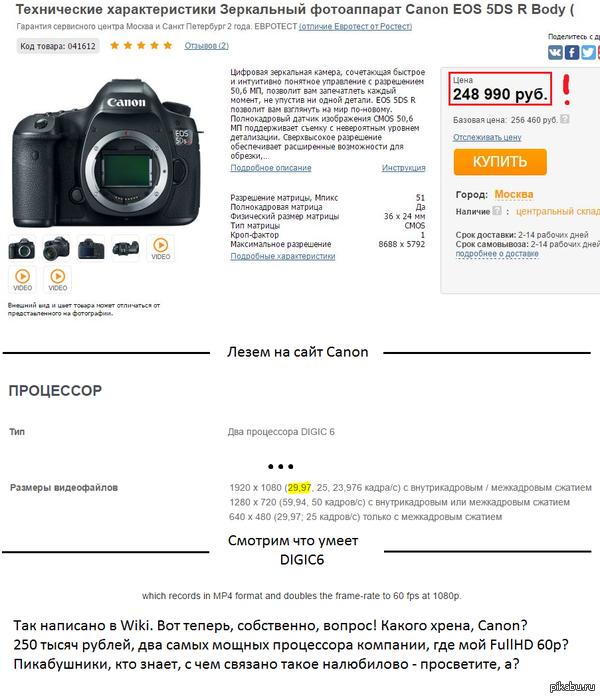Фотоаппарат за 250 тысяч рублей... ...и закономерный вопрос к сообществу и производителю