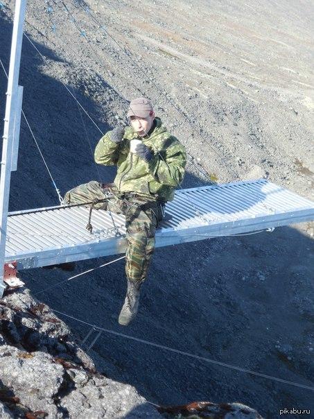 Суровый Север Ем фасоль на 200м высоте))