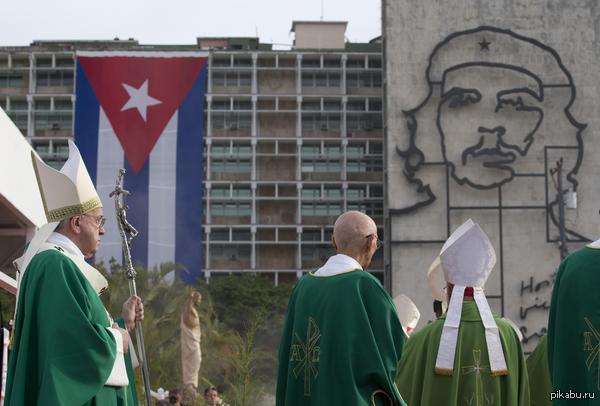 Всё меняется Торжественная служба Папы Римского Франциска на площади Революции в Гаване (Куба) 20.09.15