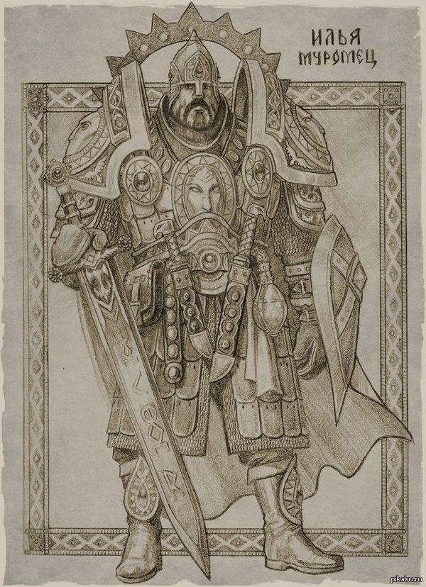 Как выглядели бы персонажи русских былин в более мрачном сеттинге? Художник Роман Папсуев дает нам возможность это увидеть.  Еще несколько героев в посте.