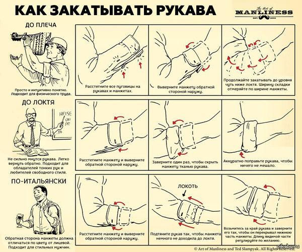 Как закатывать рукава: 3 интересных способа