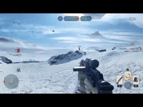 Японец играет в Star Wars Battlefront