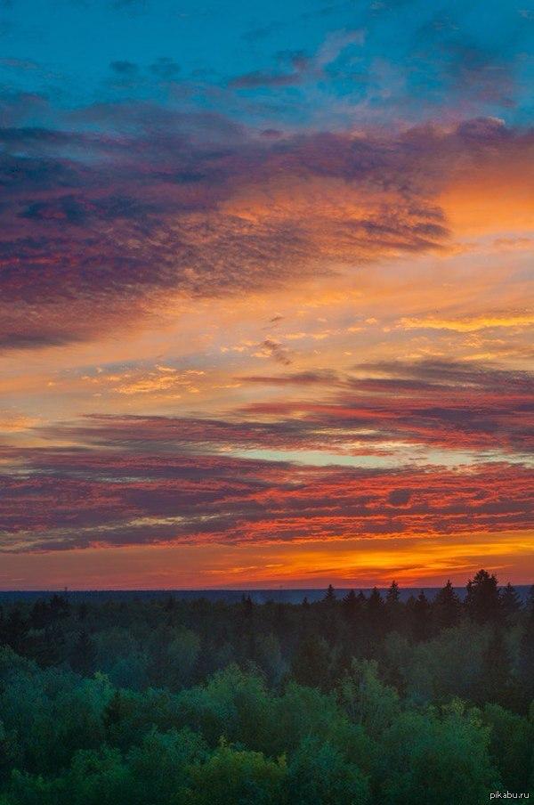 Вот такой закат в Московской области
