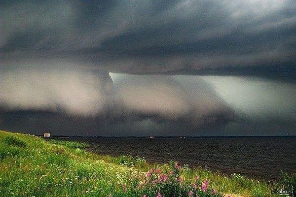 Рыбинское водохранилище 7.10.2015