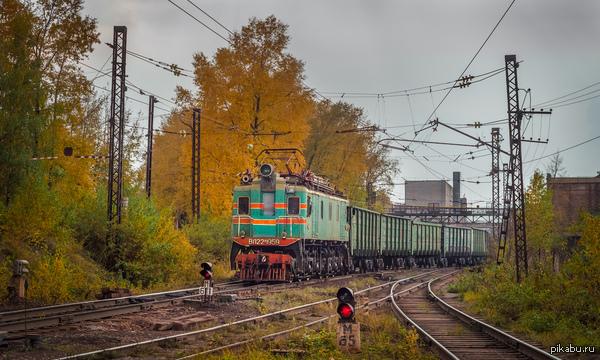 Золотая осень Электровоз ВЛ22м-1959 на ст. Рудосортировочная
