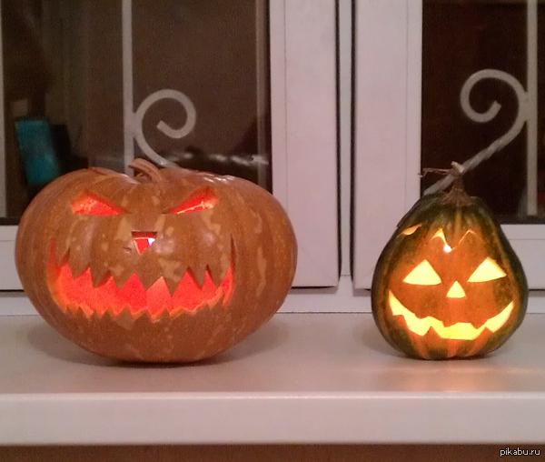 К приближающемуся Хэллоуину и  вдогонку к пятничному - вырезал в прошлом году