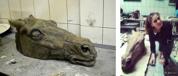 """"""" Конь """" керамика Наглядный пример какого примерно размера эта скульптуры."""