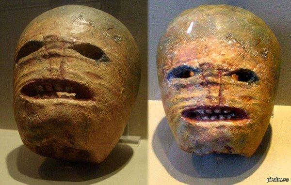 В тему хэллоуина... Вырезанный из турнепса светильник Джека, начало XX века. а теперь представьте такую рожу вместо гладких, желтых улыбающихся тыкв