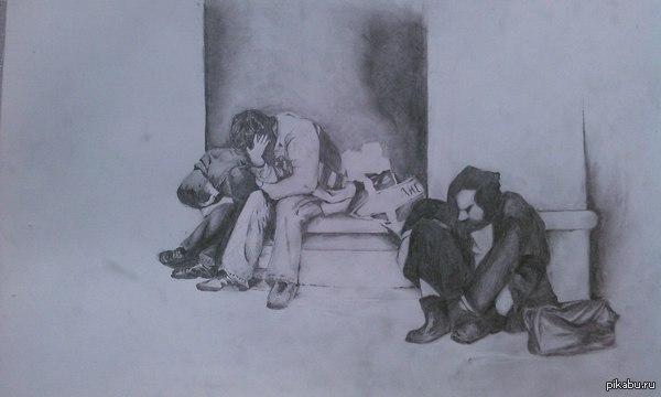 Från Födseln Förlorare срисовано с обложки с VII альбома группы Shining. простые карандаши, а4. учусь рисовать людей