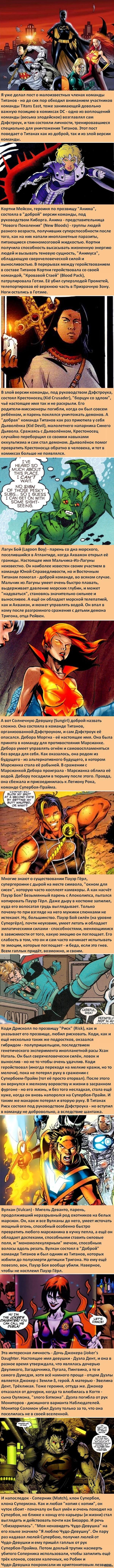 Факты о супергероях: Восточные Титаны Не особо везёт участникам этих команд по жизни.