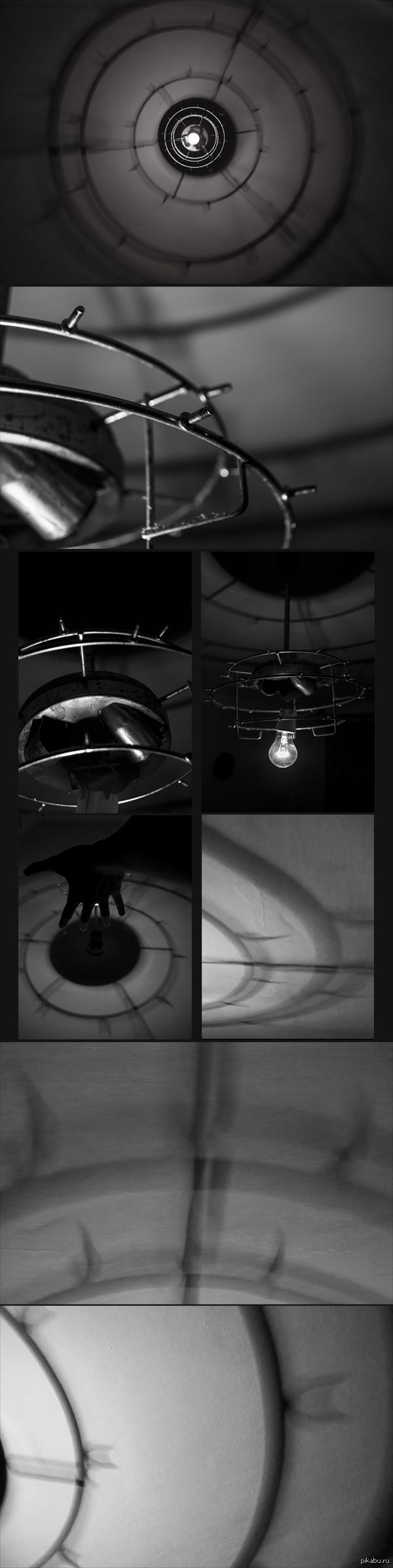Люстра На болтиках этой люстры, обычно, весел хрусталь, который делал ее классически приятной, но стоило его снять, как из люстры начинала сочиться демоническая тень