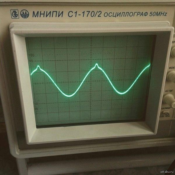 Когда поступил на радиоэлектронщика и сиськи видишь только в осциллографе на лабораторной работе