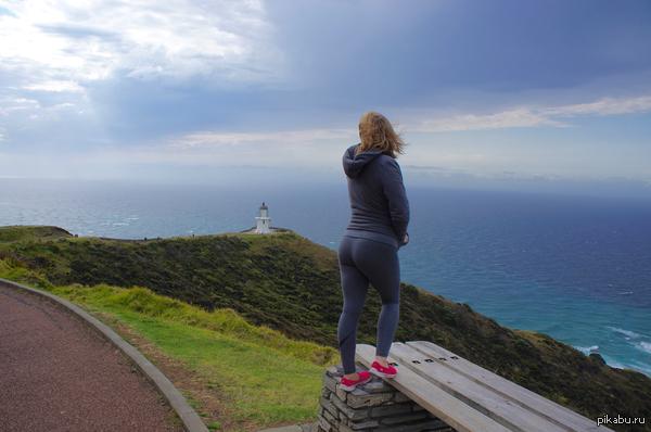 Там, на самом на краю Земли... Cape Reinga - Северный мыс северного острова Новой Зеландии.  Здесь встречаются Тасманово море и Тихий океан.