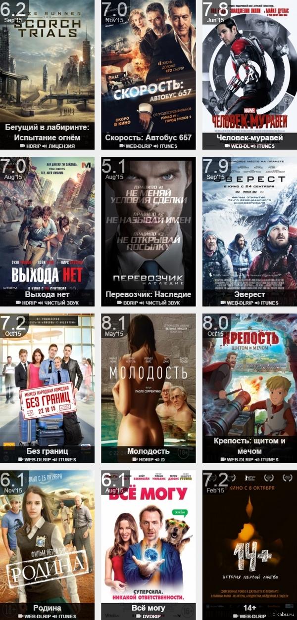 Свежие фильмы на выходные хорошее качество