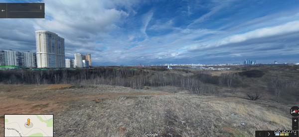 Панорама на Крылатских Холмах напоминает пустошь после ядерной войны Ссылка в комментариях